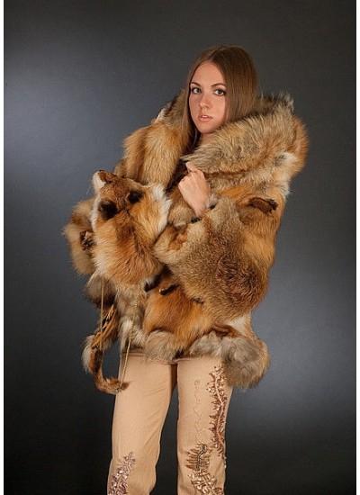 """Шубка и сумочка-муфта из лисы """"Fox"""""""