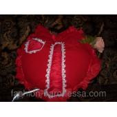 "Диванная подушка ""Red heart"""