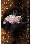 Заколка / зажим для волос «The buds of a tea rose»