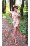 Платье коктейльное «Tea rose color»